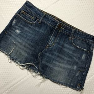 Abercrombie Distressed Cutoff Denim Mini Skirt